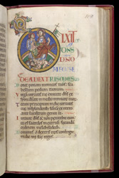 Psalm 109, in the 'Shaftesbury Psalter'